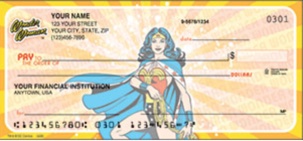 Wonder Woman Comics Comic Personal Checks - 1 Box - Duplicates